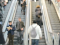 People to the subway, Madrid. Related clips are in my portfolio in 1920x1080. - stock footage