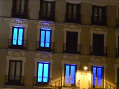 Hotel in night. Related clips are in my portfolio in 1920x1080. Stock Footage