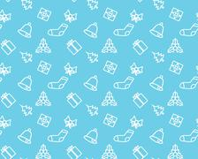 christmas seamless background - stock illustration