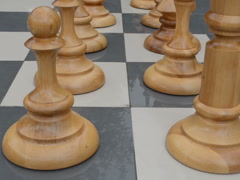 White chessmen. Related clips are in my portfolio in 1920x1080. Stock Footage