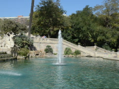 Shooting of fountains with conducting. Related clips are in my portfolio in HD. Stock Footage