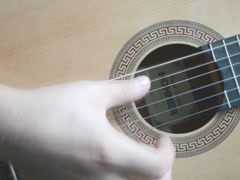 Playing a guitar. Related clips are in my portfolio in 1920x1080. Stock Footage