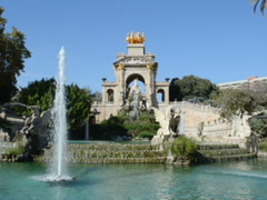 Fountains are designed by Gaudi. Related clips are in my portfolio in 1920x1080. Stock Footage