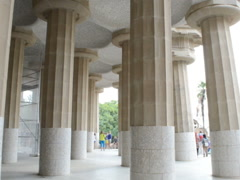 Stock Video Footage of Columns in Gaudi's park. Related clips are in my portfolio in 1920x1080.