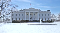 White House front yard in the Winter Stock Footage