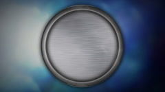 Animated blank metal circle on background Stock Footage