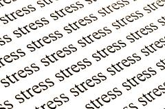 conceptual background of stress.. - stock photo