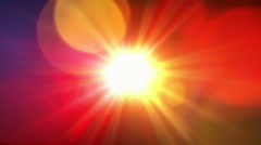 Abstract sun background Stock Footage