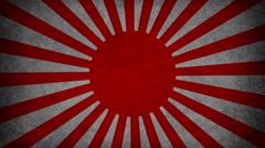 Japanese sun looping background Stock Footage