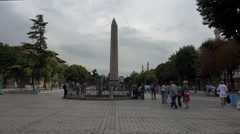 Istanbul Turkey Obelisk of Theodosius park 4K 016 Stock Footage