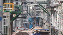 Industrial construction area Stock Footage