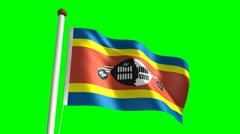 Swazi flag Stock Footage