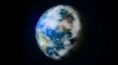 Zoom towards the Earth - stock footage