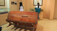 Looms, Antiquity inmuseum Stock Footage
