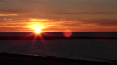 Sunrise St-Lawrence River 09 Stock Footage