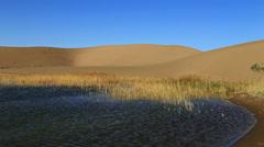 Badain Jaran Desert lake Stock Footage
