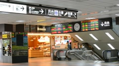 Scenery of taipei station Stock Footage