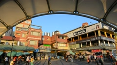 Tamsui old street scenery Stock Footage