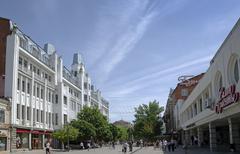 Kirov avenue in saratov Stock Photos