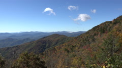 mountains in the fall from blue ridge parkway, nc - stock footage