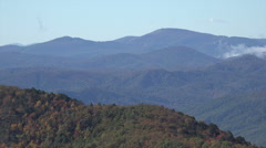 zoom, mountains in the fall from blue ridge parkway, nc - stock footage