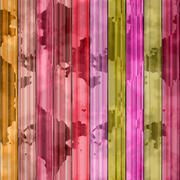 Abstract stained planks in vibrant colors background Stock Illustration