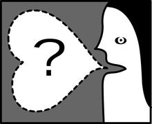 Asking a question - symbol, icon Stock Illustration