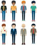 Stock Illustration of Faceless bachelors