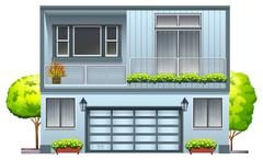 A house with balcony Stock Illustration