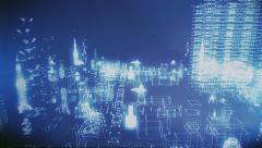 Digital City - stock footage