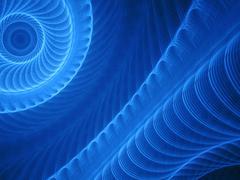 Unique blue fractal pattern Stock Illustration