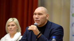 Ex-World Champion in boxing Nikolay Valuyev Stock Footage