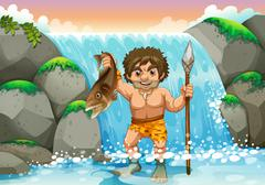 Stock Illustration of Stone age