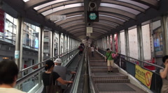 Timelapse Hong Kong Central-Mid Levels Escalator-longest outdoor escalator-Dan Stock Footage