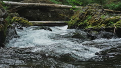 Stock Video Footage of slow motion river flowing 2
