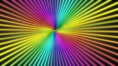 Colorful sun burst Stock Footage