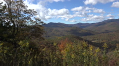 black mountains overlook in the fall from blue ridge parkway, nc - stock footage