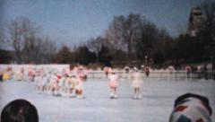 Outdoor Figure Skating Gala-1962 Vintage 8mm film Stock Footage