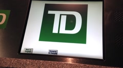 Close up screen for td bank customer to depositing coin to td account. Stock Footage