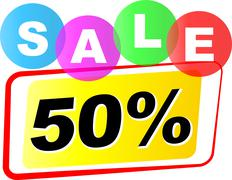 Fifty percent sale icon Stock Illustration