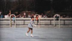 Teenagers At Outdoor Figure Skating Show-1962 Vintage 8mm film Stock Footage