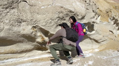 Paleontologists Expedition - stock footage
