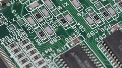 Macro Motion Control Pan Electronics Parts Circuit Board Hi Tech Technology Line Stock Footage