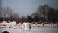 Vaudeville Figure Skating Act-1962 Vintage 8mm film Stock Footage