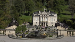 Linderhof Palace water fountain garden Bavaria Germany 4K 023 Stock Footage