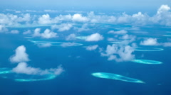 Maldives islands aerial view. Stock Footage