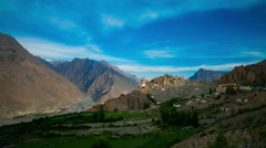 4k timelapse dhankar gompa. india. spiti valley Stock Footage