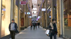4K FHD Department Store Shopping Arcade consumers shopping Stock Footage