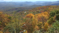 Blue ridge parkway overlook in the fall, nc Stock Footage