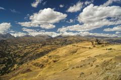 cordillera negra in peru - stock photo